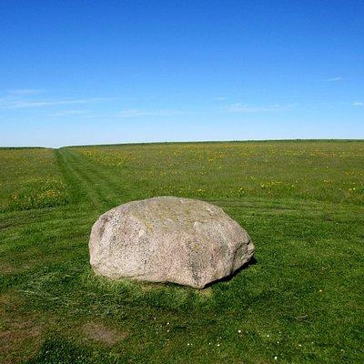 Udsigt fra centrum-stenen mod vest