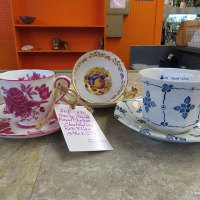 Cups and saucers purchased @ River Market Antiques