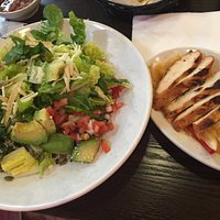 Fajitas salad with chicken