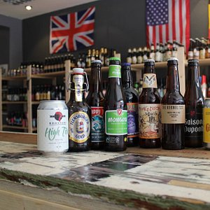 Selection of beers available