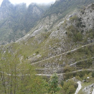 The Via Vandelli's bends (in the lower part of the picture)