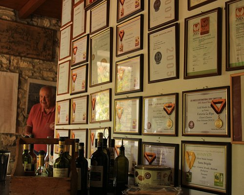 You can see the appreciation this winery receives AND unforgettable Sandro Caramelli