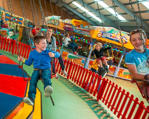 Chair-o-plane ride in the vintage fairground