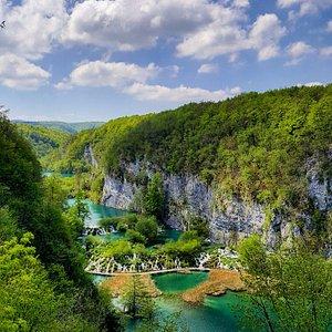 View on Plitvice Lakes