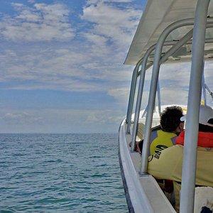 Enjoy a comfortable ride through the water of the Golfo de Fonseca.
