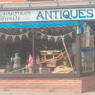 The shop front of this gem of a Antiques shop