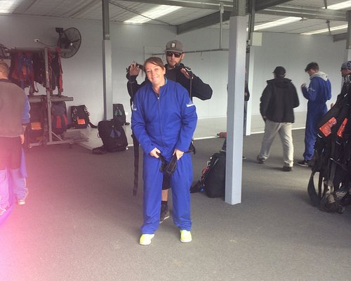 getting ready for my skydive