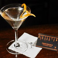 Our menu is comprehensive, with a mix of originals and classics such as this Vesper Martini.