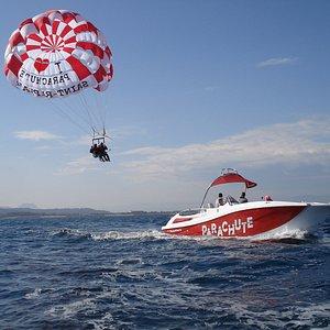 Activité parachute ascensionnel au dessus de Saint Raphaël