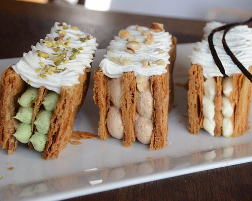 Beautiful Mille Feuille creations from our Puff Pastry class!