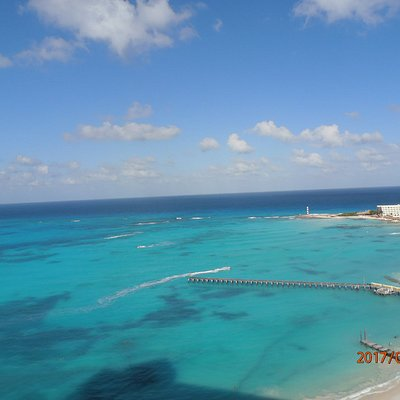 Playa Caracol vista do hotel Riu Cancún