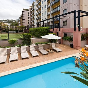 Outdoor Swimming Pool and Tennis Court