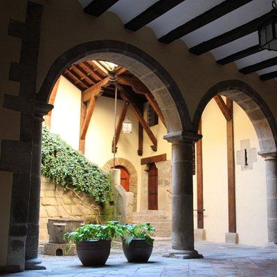Patio interior de la casa consistorial