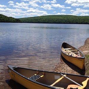 Canoe camping at Mont Tremblant
