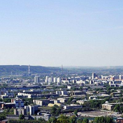 Вид с горы Соколиной на Новокузнецк