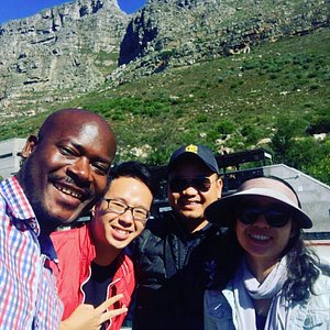 Table Mountain with our tour guide