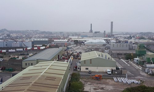 A view from the fort of 'industrial Guernsey'