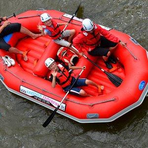 spływ pontonowy popradem