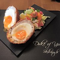 Smoked Haddock Scotch egg, on the specials board.