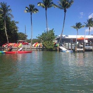 Crazy Woman Kayaks at the Nauti Parrot Dock Bar.