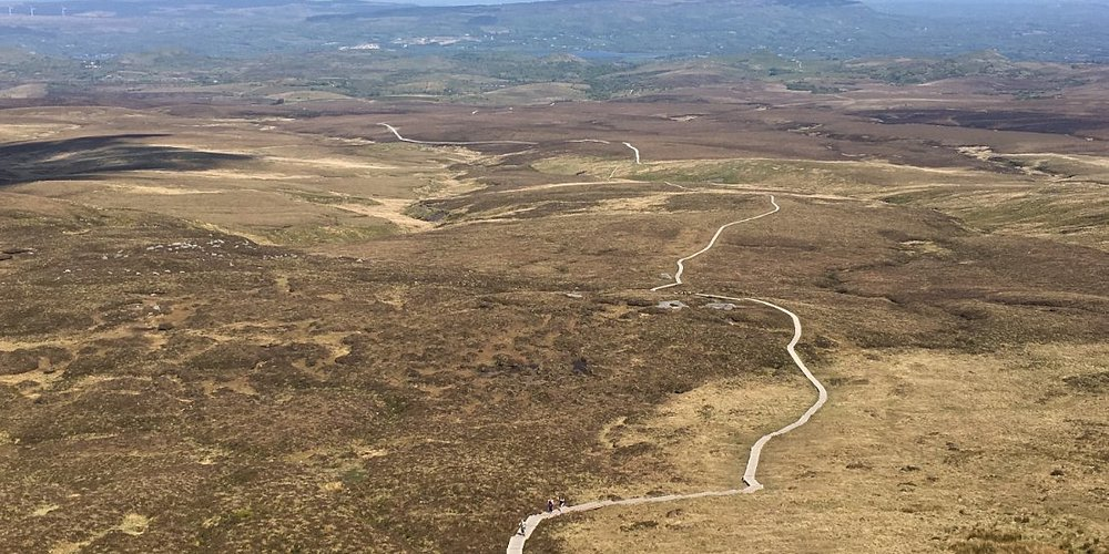 The view down from Cuilcagh Mountain