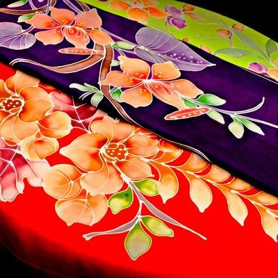 Silk Scarf  (100% Handmade Genuine Batik)