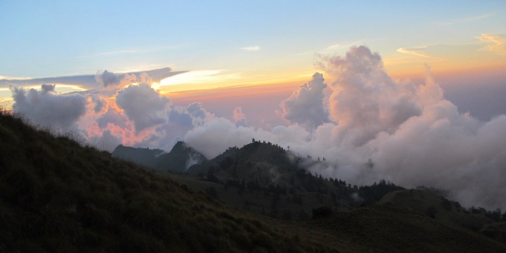 view from Mount Rinjani