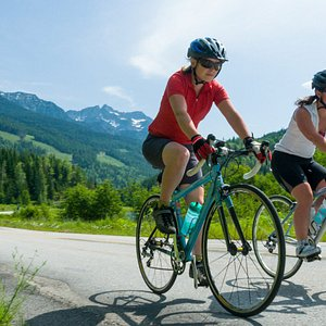 Road cycling near Nelson, British Columbia
