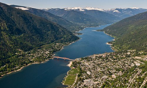 Aerial view of Nelson, British Columbia
