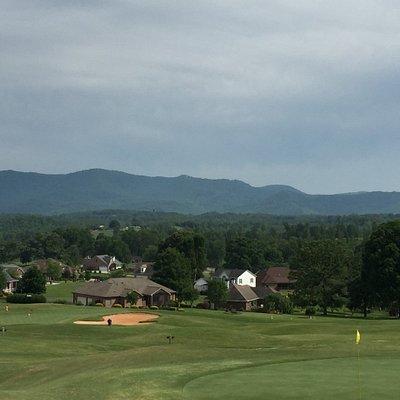 Mountain vista above # 16 Green
