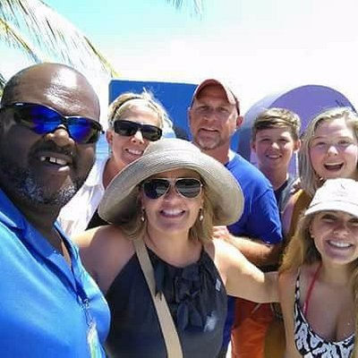 Venrow Johnson you're tour guide with happy customers