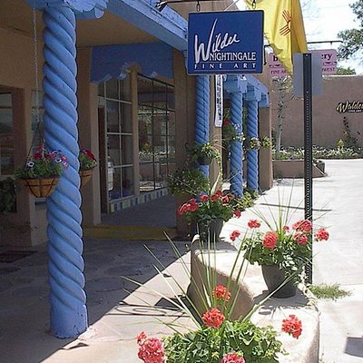 Stroll down Historic Kit Carson Road. Relax in the shade. Relax and enjoy the art in the gallery