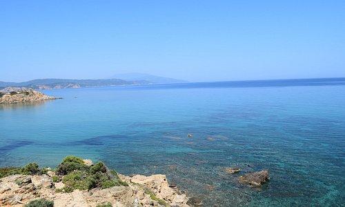 The sea at Elias Beach