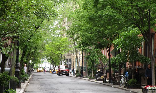 Una calle del Greenwich.