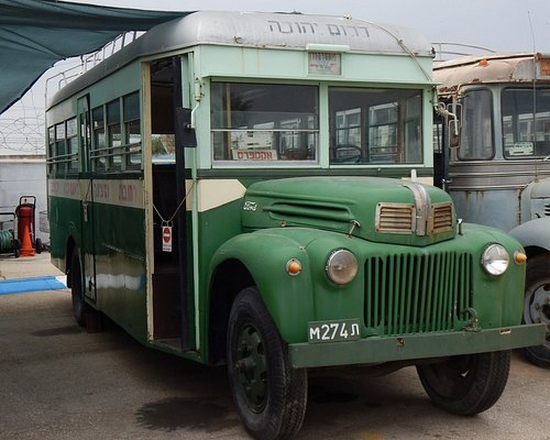 Old buses at museum