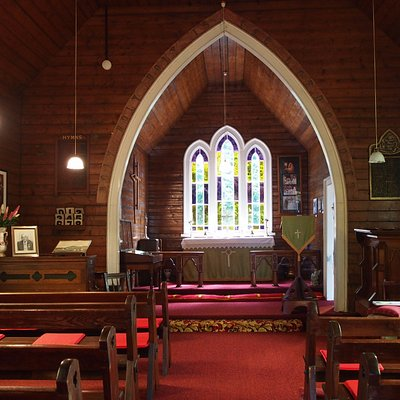 Church Gallery interior. This was an  Anglican church & opened in 1880.