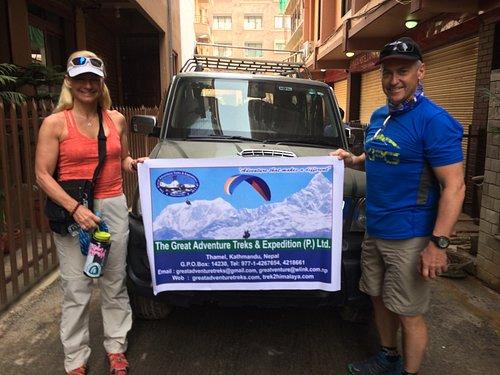 At Kathmandu before heading out to start our trek in Jiri, Nepal to Everest Base Camp.