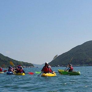 Kayaking on the beautiful oceans of Hong Kong