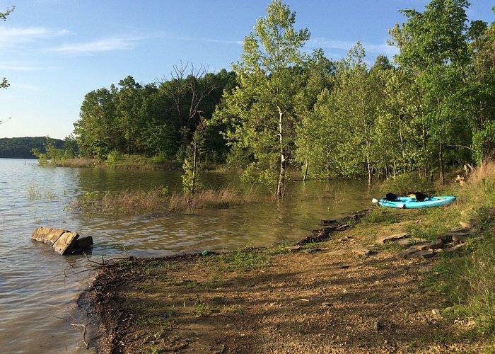 Beautiful Lake Monroe. I walked in from the road: Grubb Ridge trail then the Peninsula Trail. Ab