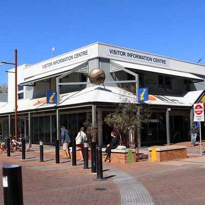 The Alice Springs Visitor Information Centre, on the corner of Parsons St and Todd Mall.