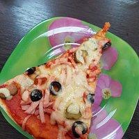 Кусочек американской пиццы