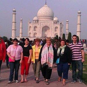 our guest at Taj Mahal