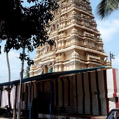 The temple raja gopuram