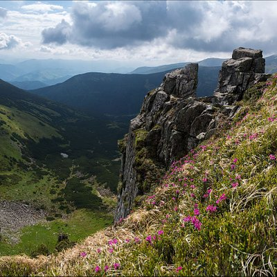 Shpytsi Mountain (1863 m asl), one of the peaks of the Chornohora mountain range. Join us!
