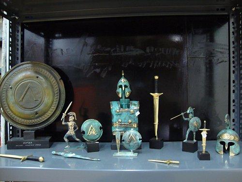 Greek spartan arms! (bronze casting statues)