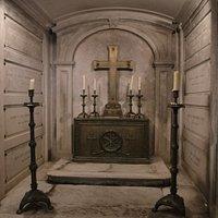 Piccola cripta a lato della tomba di Camillo Benso