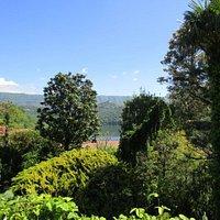 Vista sul lago dal giardino hotel
