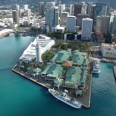 View of Aloha Tower Marketplace