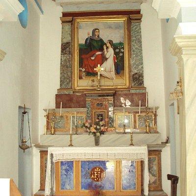 Στην εκκλησία της Μονής Ουρσουλινών, στα Λουτρά της Τήνου (01.04.2017)