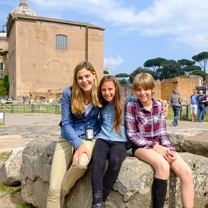 Our Tour of the Roman Forum with our guide from Rome Tour with Kids